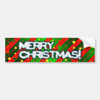 Starry Holiday Background Car Bumper Sticker