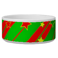 Starry Holiday Background Pet Bowls