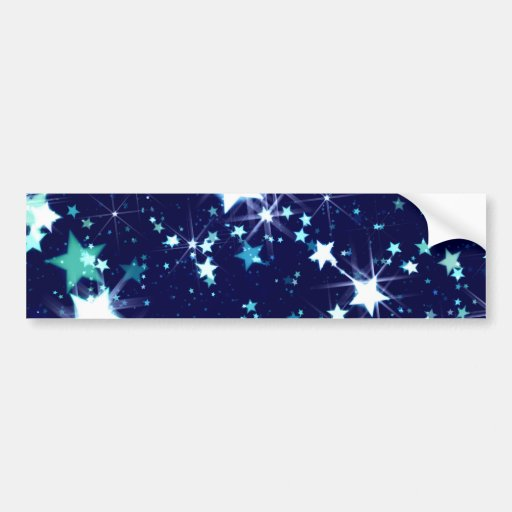 Starry Holiday Bumper Sticker