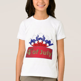 Starry Independence Day Girl Ringer T-Shirt