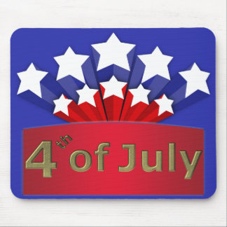 Starry Independence Day Mouse Pad