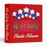 Starry Independence Day Photo Album Template 3 Ring Binder