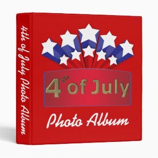 Starry Independence Day Photo Album Template Binders