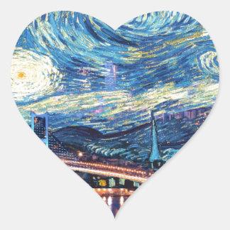 Starry Istanbul Heart Sticker