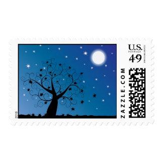 Starry Leaves Postage