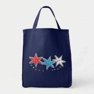 Starry Looks - A Patriotic Trio Tote Bag
