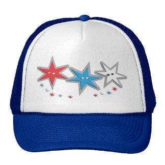 Starry Looks - A Patriotic Trio Trucker Hat