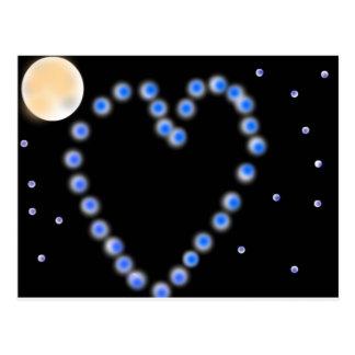 Starry love postcard