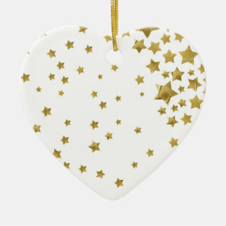 Starry Magic - White Ceramic Ornament