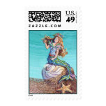 STARRY MERMAID by SHARON SHARPE Postage Stamps