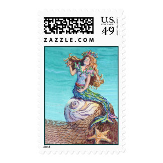 STARRY MERMAID by SHARON SHARPE Stamps