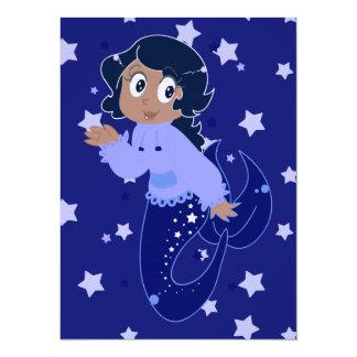 Starry Mermaid Girl Card