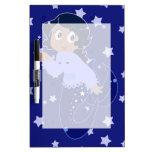 Starry Mermaid Girl Dry-Erase Board