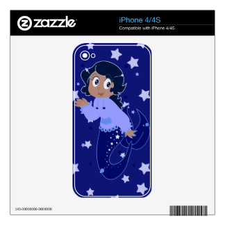 Starry Mermaid Girl iPhone 4S Decal