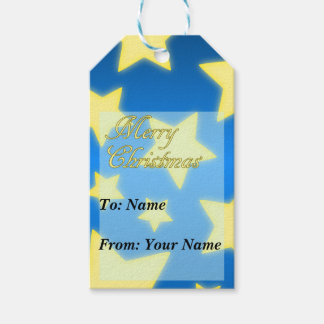 Starry Merry Christmas Gift Tag