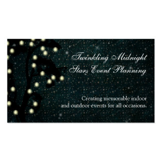 Starry Midnight String of Lights Event Planning Double-Sided Standard Business Cards (Pack Of 100)