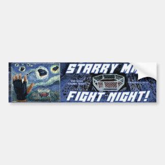 Starry MMA Fight Night Car Bumper Sticker