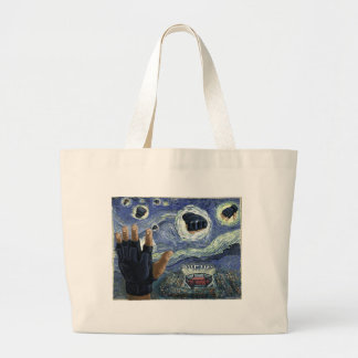 Starry MMA Fight Night Large Tote Bag