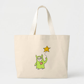 Starry Monster Large Tote Bag