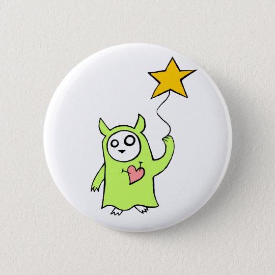 Starry Monster Pinback Button