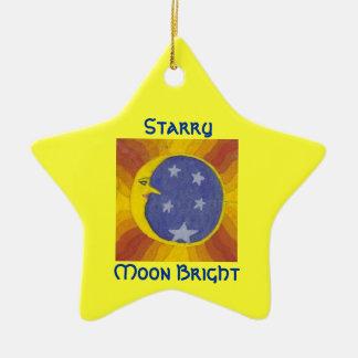 Starry Moon Bright/Rainbow Moon Dark Christmas Tree Ornaments