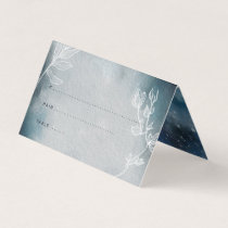 Starry Moonlit Night Monogram Place Card