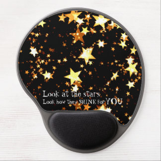 Starry Mousepad, Yellow Gel Mouse Pad