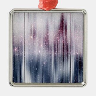 Starry Nebula Glitter Metal Ornament