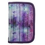 Starry Nebula Wood Design Folio Planner