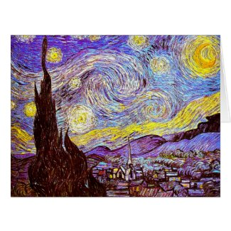 Starry Night 1889 Card