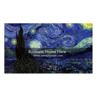 starry night,1889,Vincent van Gogh Business Card