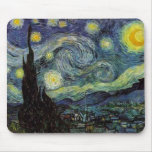 starry night,1889,Vincent van Gogh Mouse Pads
