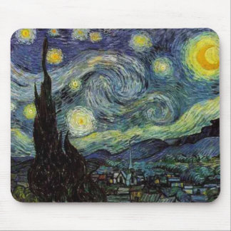 starry night 1889 Vincent van Gogh Mouse Pads