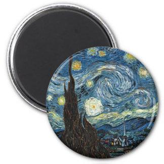 Starry Night 2 Inch Round Magnet