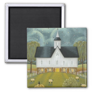 Starry Night 2 Inch Square Magnet