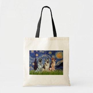 Starry Night - 3 German Shepherds Bags