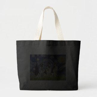 Starry Night - 3 German Shepherds Tote Bag
