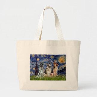 Starry Night - 3 German Shepherds Tote Bags