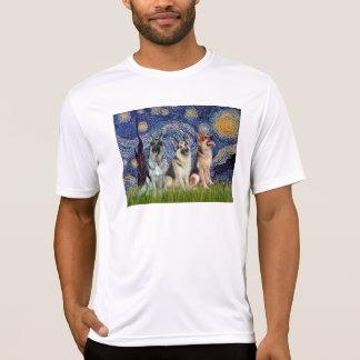 Starry Night - 3 German Shepherds Shirt