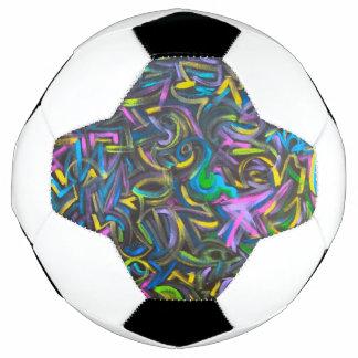 Starry Night-Abstract Art Brushstrokes Soccer Ball