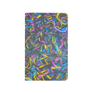 Starry Night - Abstract Art Hand Painted Journal