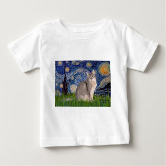 Starry Night - Abyssinian (blue 21) Baby T-Shirt