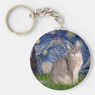 Starry Night - Abyssinian (blue 21) Keychain