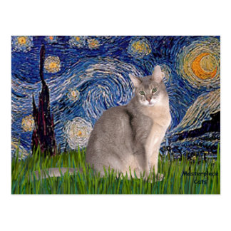 Starry Night - Abyssinian (blue 21) Postcard
