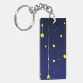 Starry Night acrylic keychain