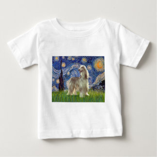 Starry Night - Afghan Hound (sable) Baby T-Shirt