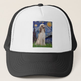 Starry Night - Afghan Hound (sit) Trucker Hat
