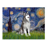 Starry Night - Alaskan Malamute Post Card