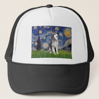 Starry Night - Alaskan Malamute Trucker Hat