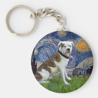 Starry Night - American Blue Blood Bulldog Keychains